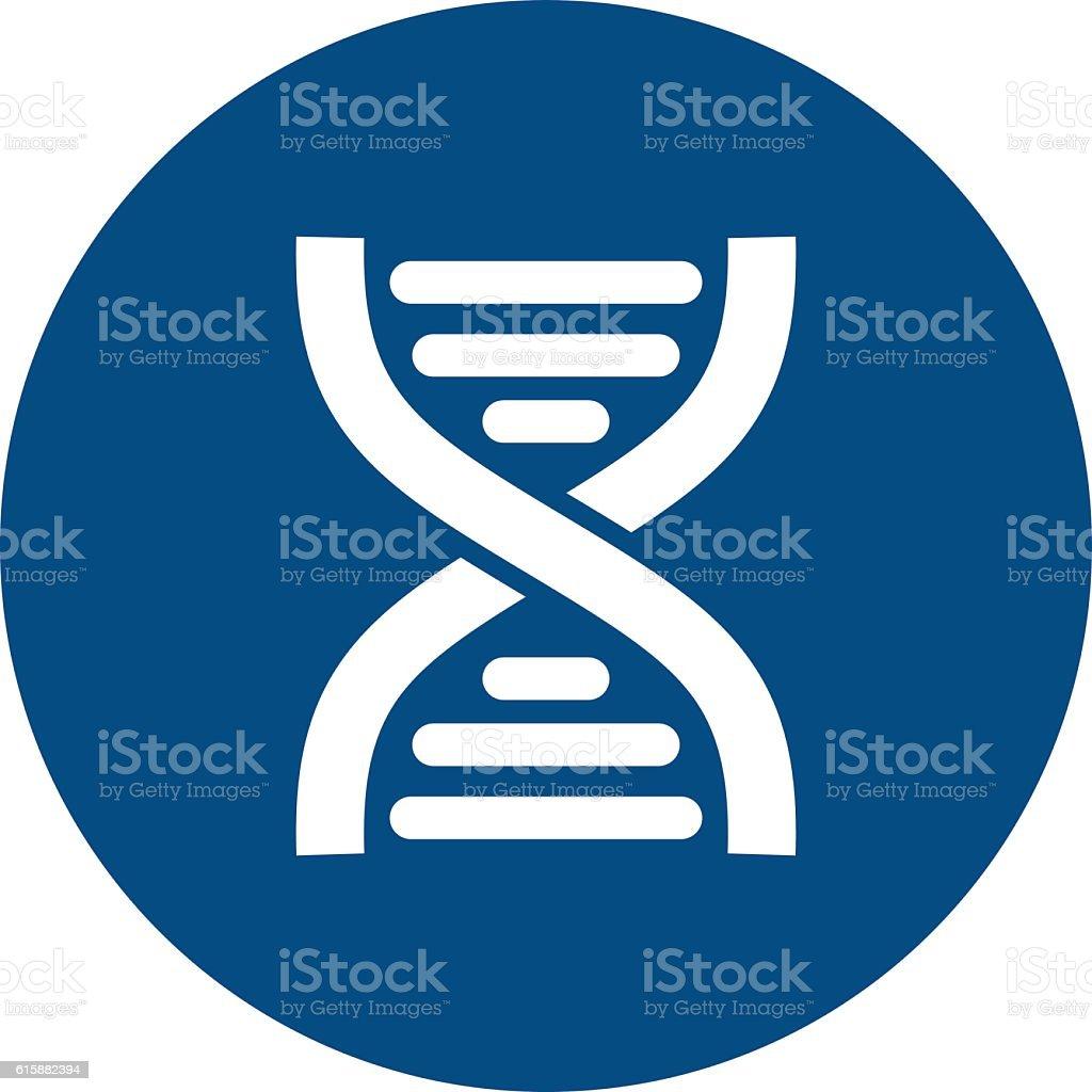 DNA flat icon. Medical vector vector art illustration