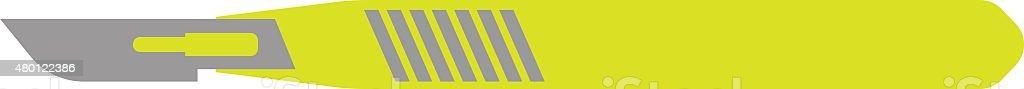 Flat Icon of Scalpel  on White Background vector art illustration