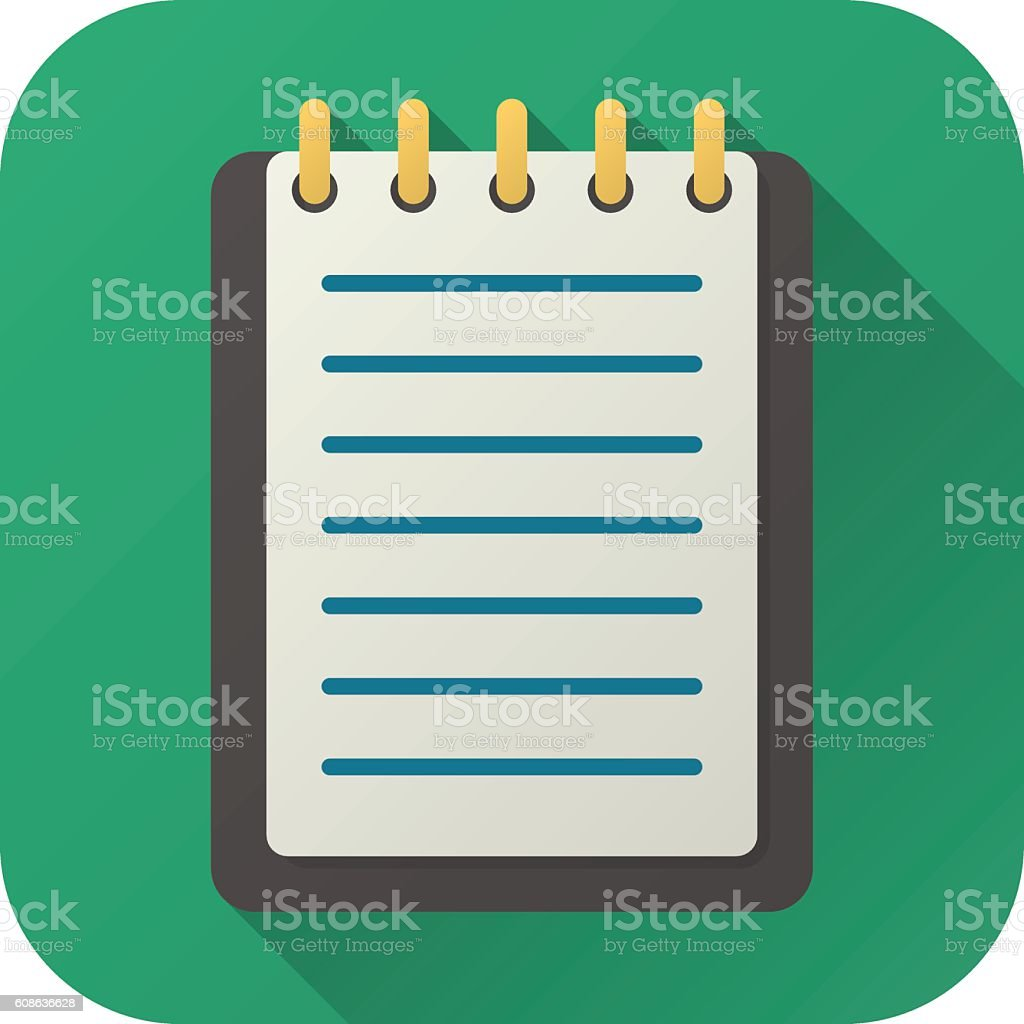 Flat icon of toy notebook vector art illustration
