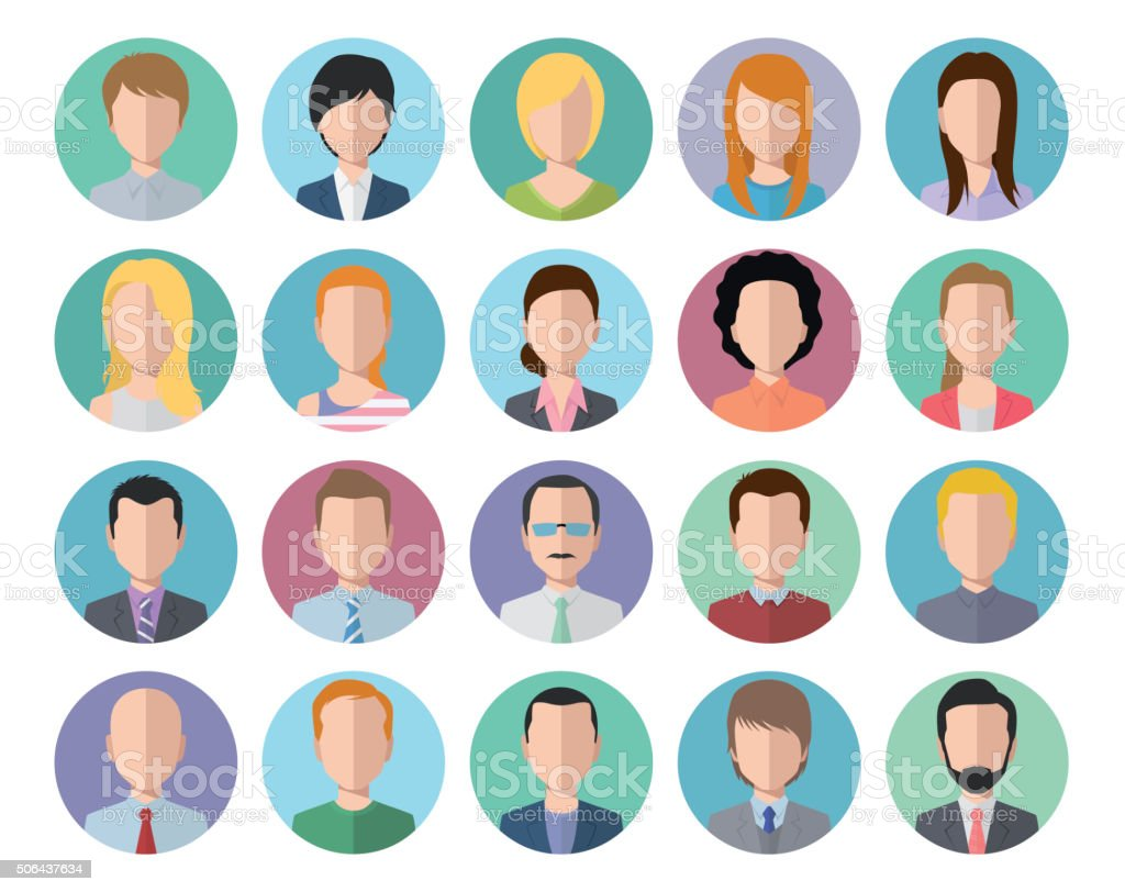 flat icon people avatar vector art illustration
