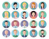 flat icon people avatar