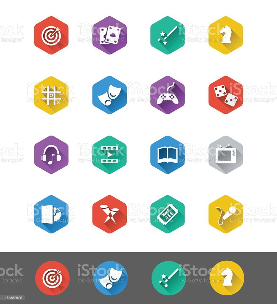 Flat Icon Series: Entertainment Icons vector art illustration