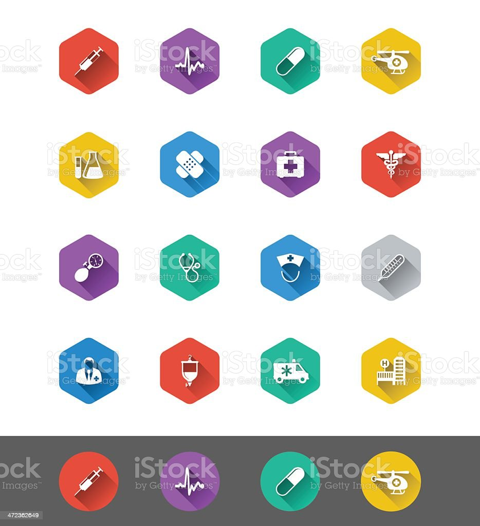 Flat Icon Series: Medical and Health Icons vector art illustration