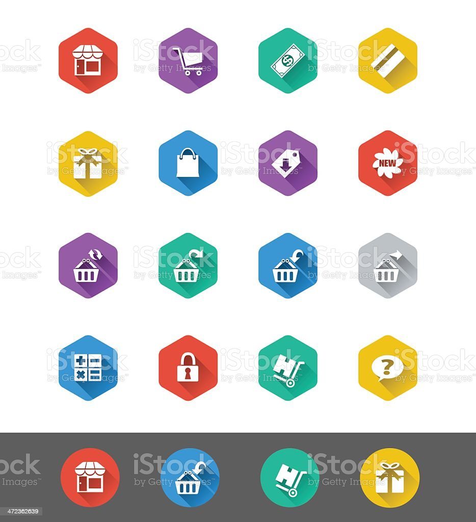 Flat Icon Series: Shopping Icons royalty-free stock vector art