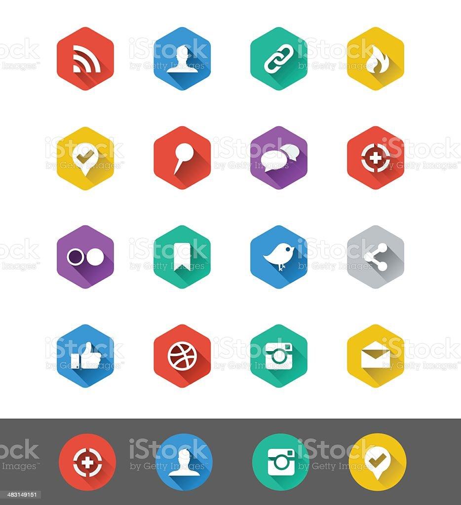 Flat Icon Series: Social Media Icons royalty-free stock vector art