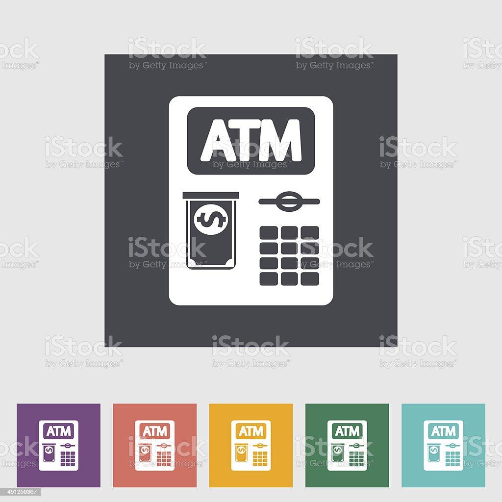 ATM flat icon vector art illustration