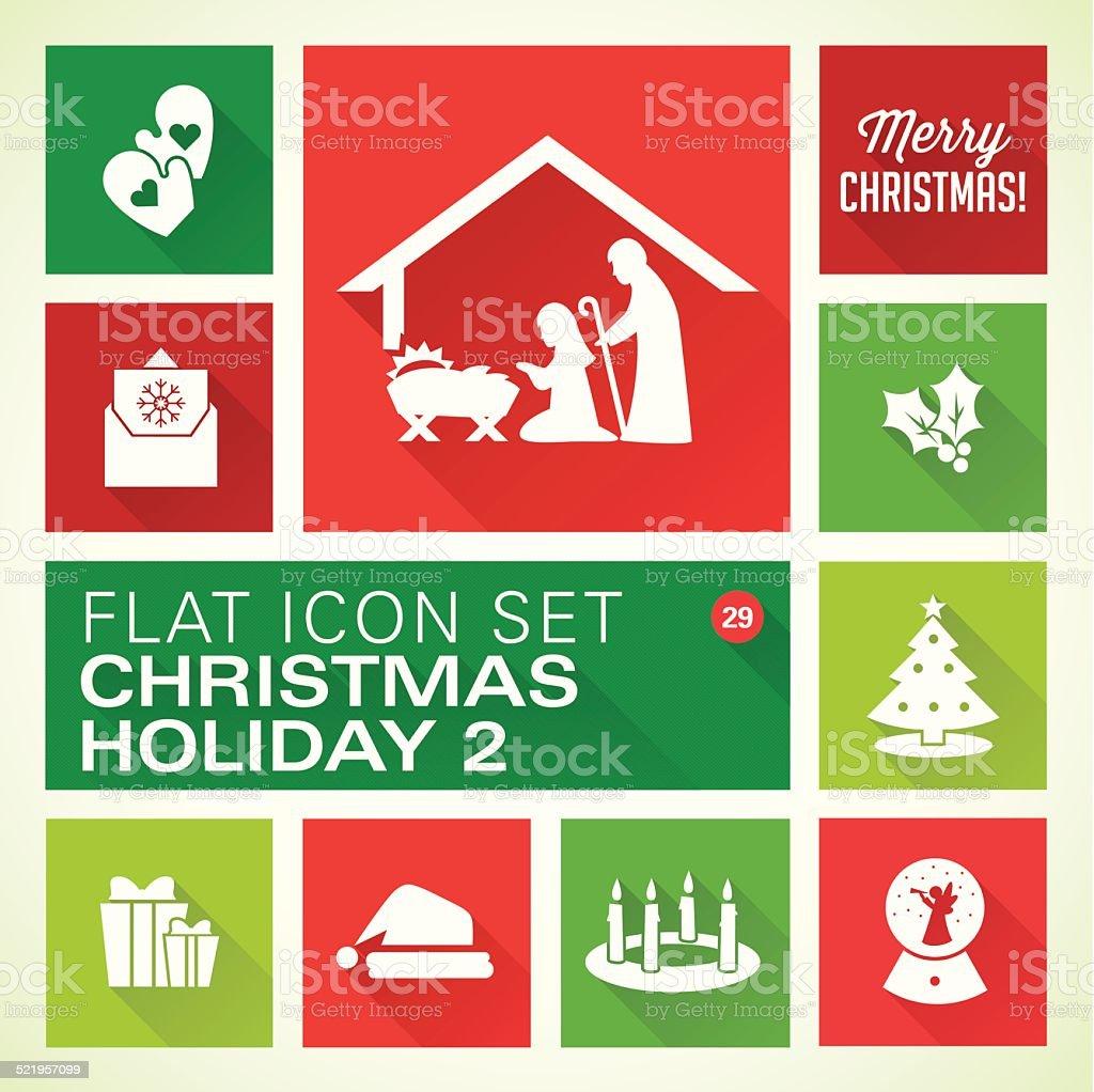 Flat icons 29-Christmas vector art illustration