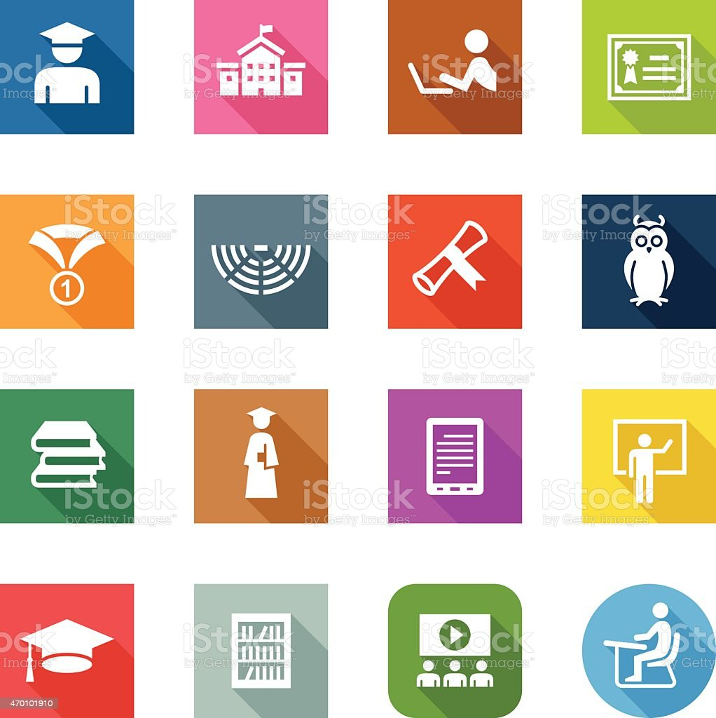 Flat Icons - College vector art illustration