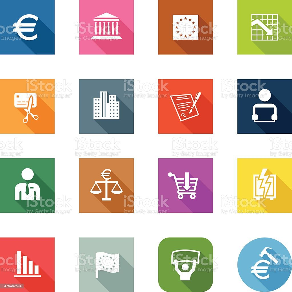 Flat Icons - European Union vector art illustration