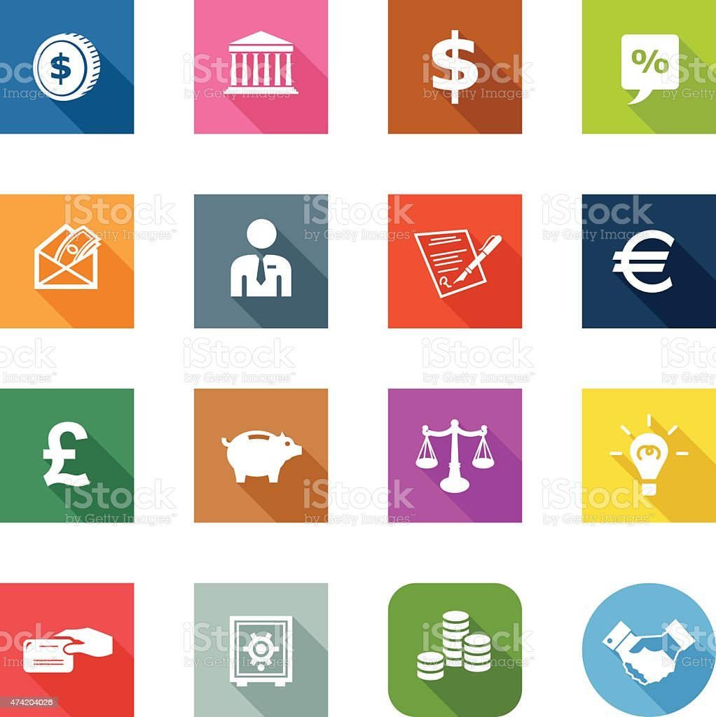 Flat Icons - Finance vector art illustration