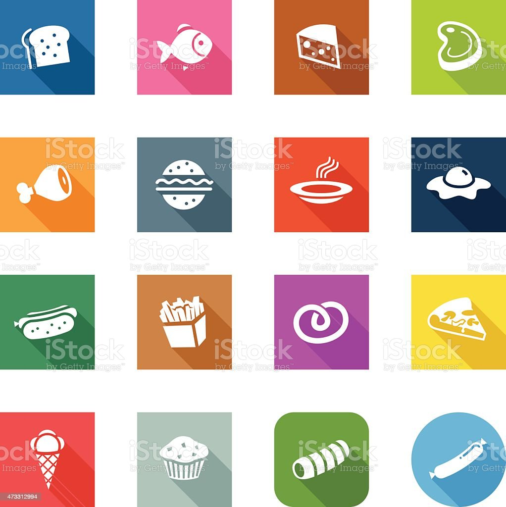 Flat Icons - Food vector art illustration