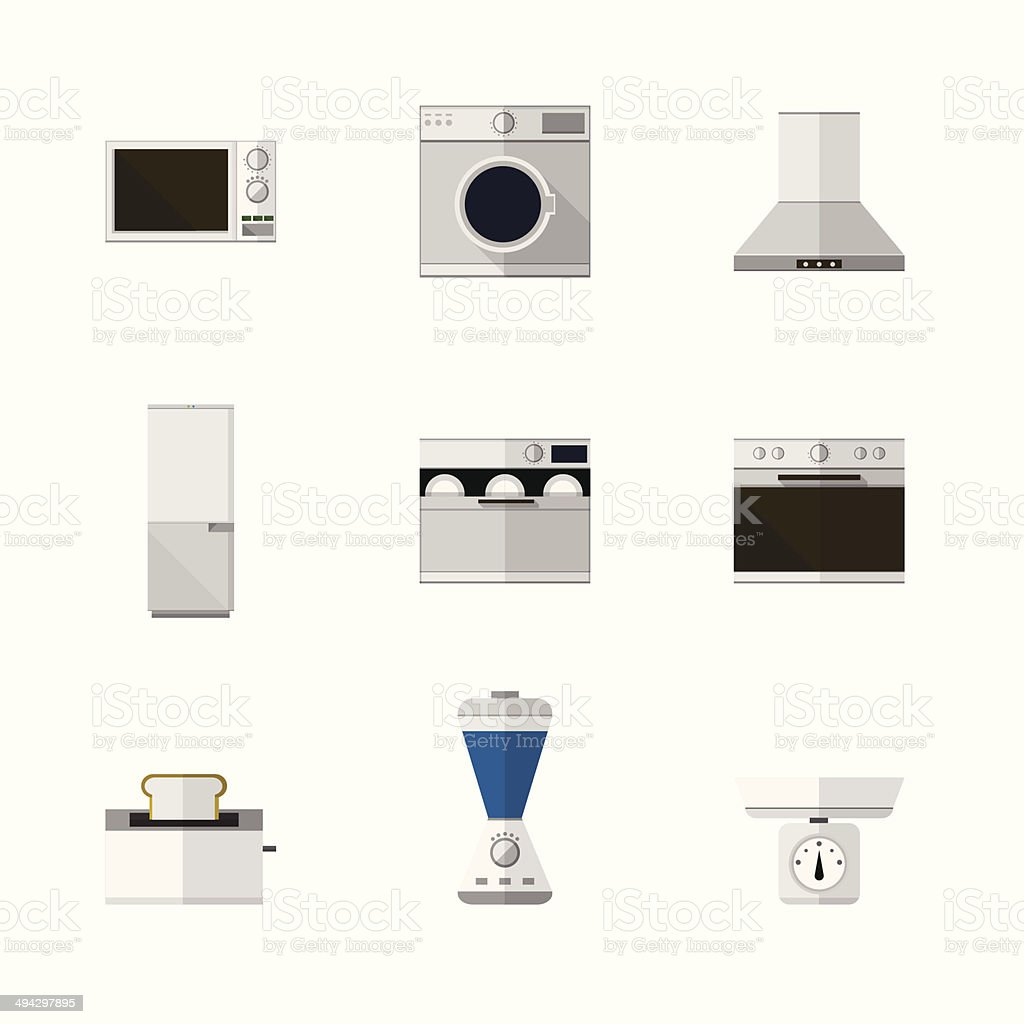 Flat icons for home equipment royalty-free stock vector art