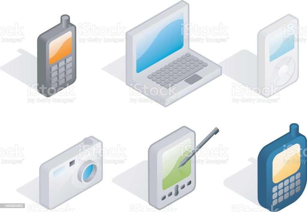 flat icons: gadgets royalty-free stock vector art