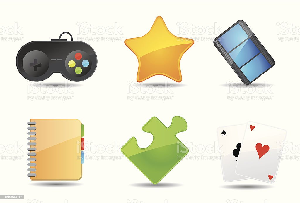 Flat Icons | Games & Entertainment royalty-free stock vector art