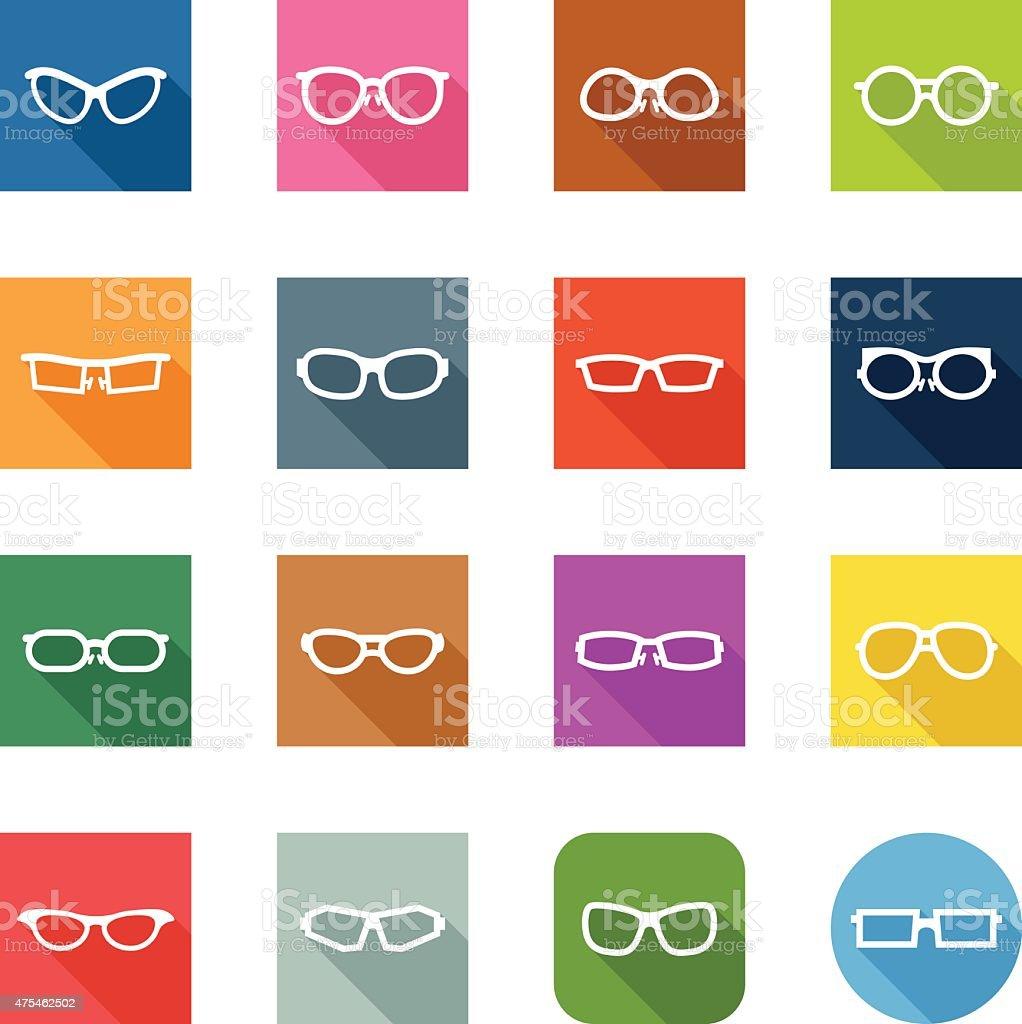 Flat Icons - Glasses vector art illustration