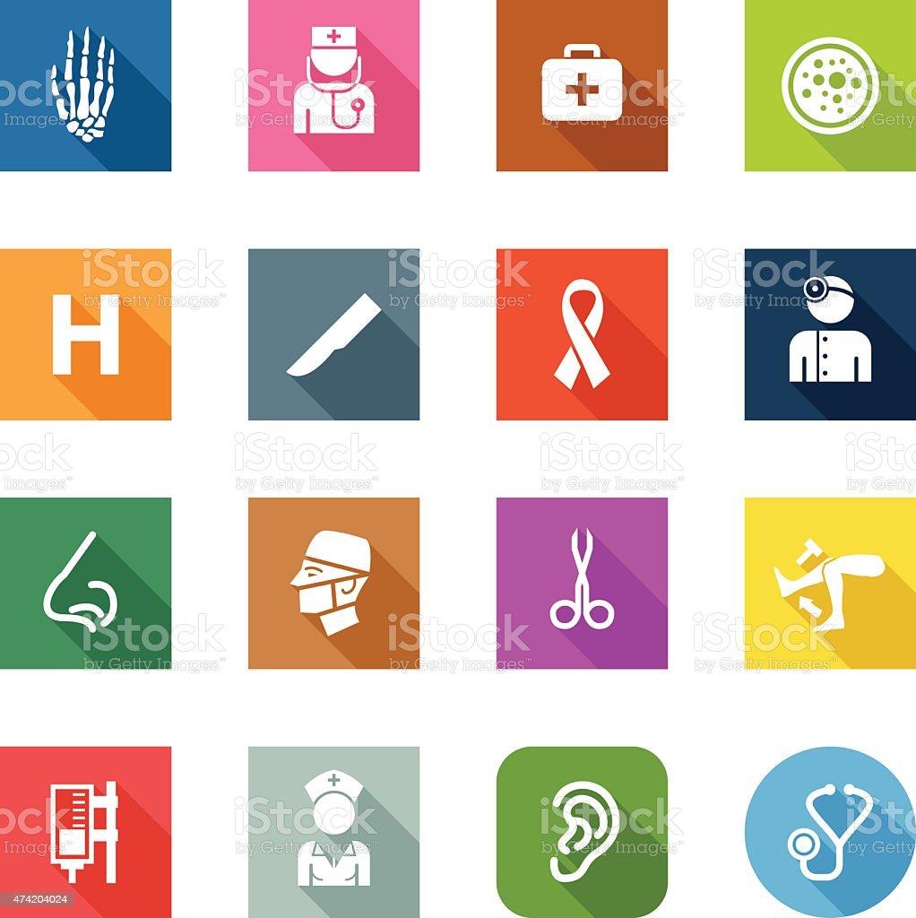 Flat Icons - Hospital vector art illustration