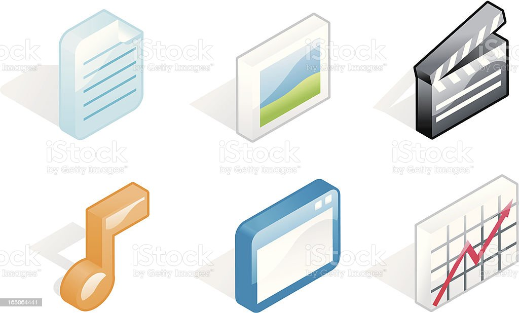 flat icons: media royalty-free stock vector art