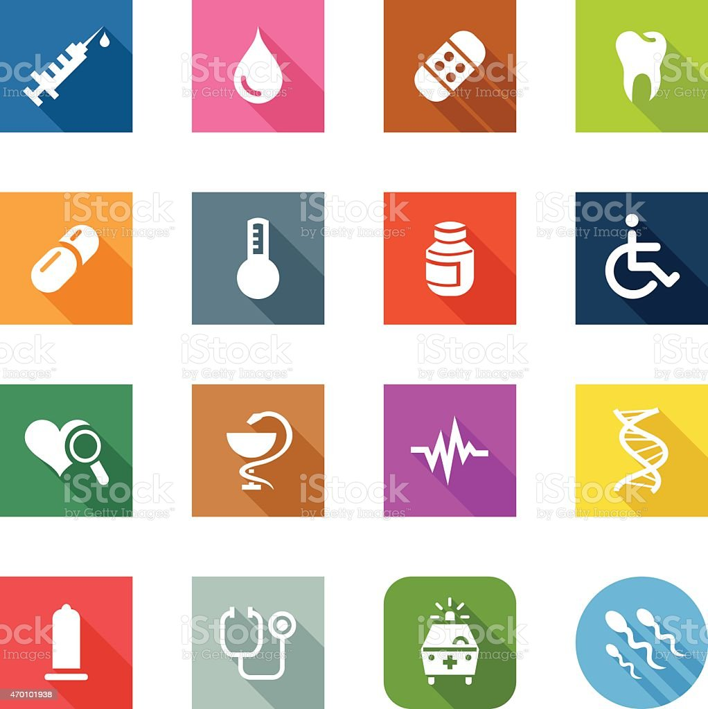 Flat Icons - Medical vector art illustration