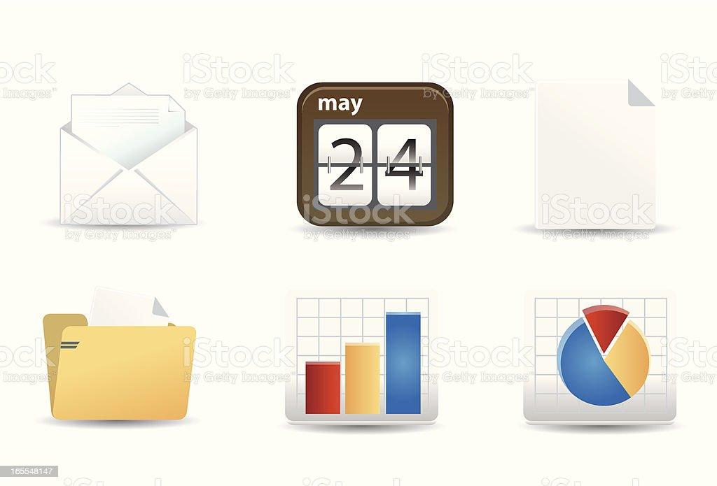 Flat Icons | Office & Work vector art illustration