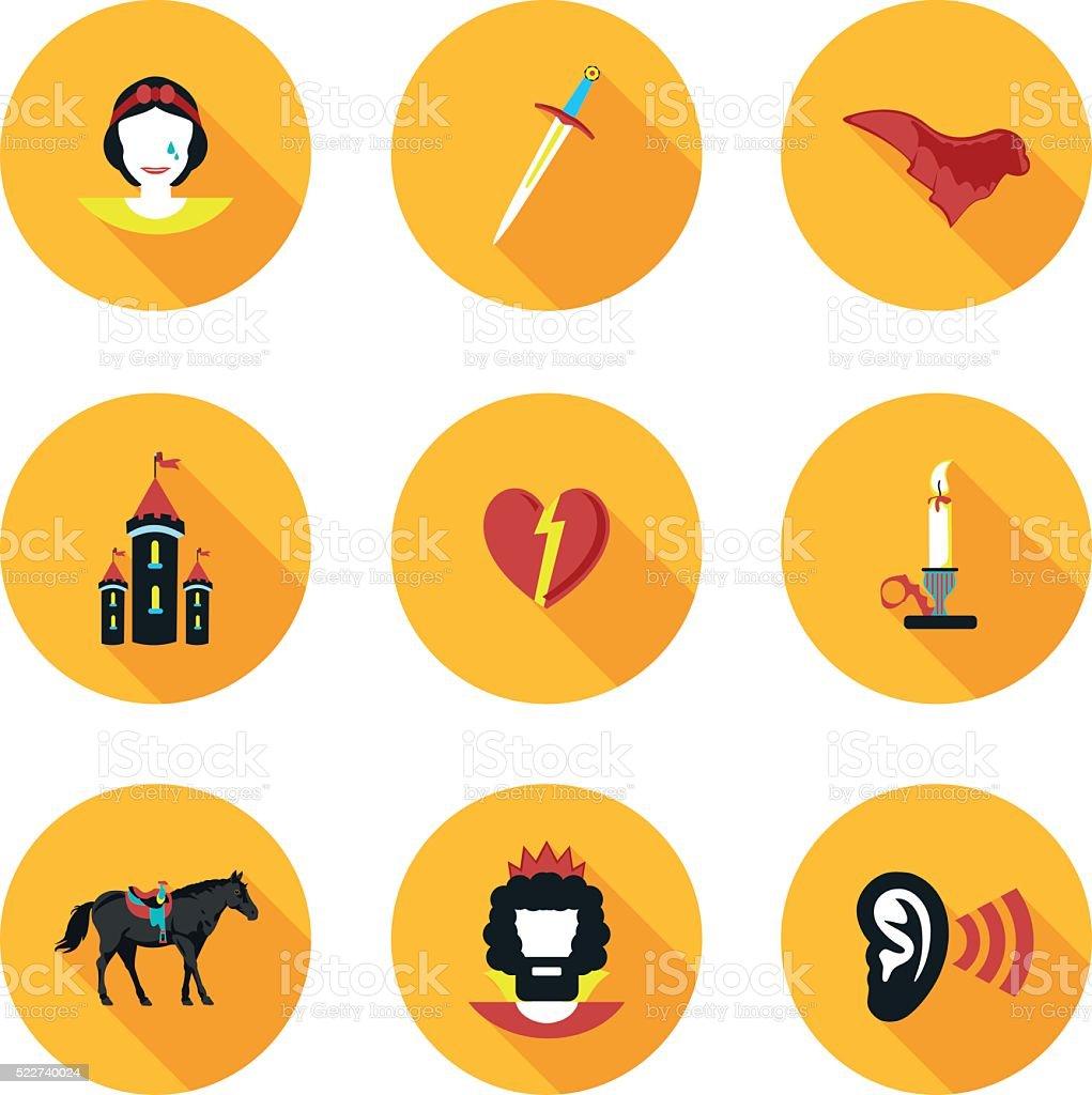 flat icons Othello vector art illustration