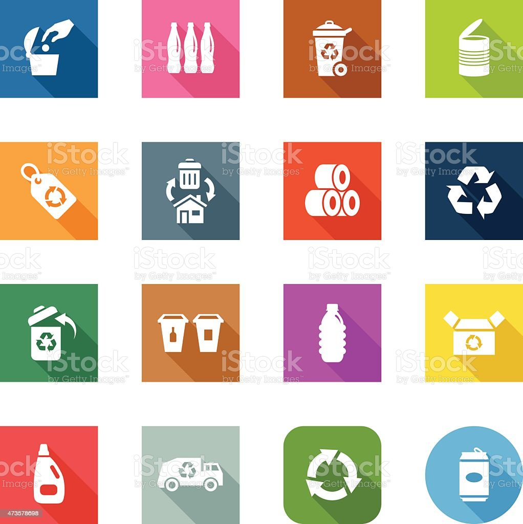 Flat Icons - Recycle vector art illustration
