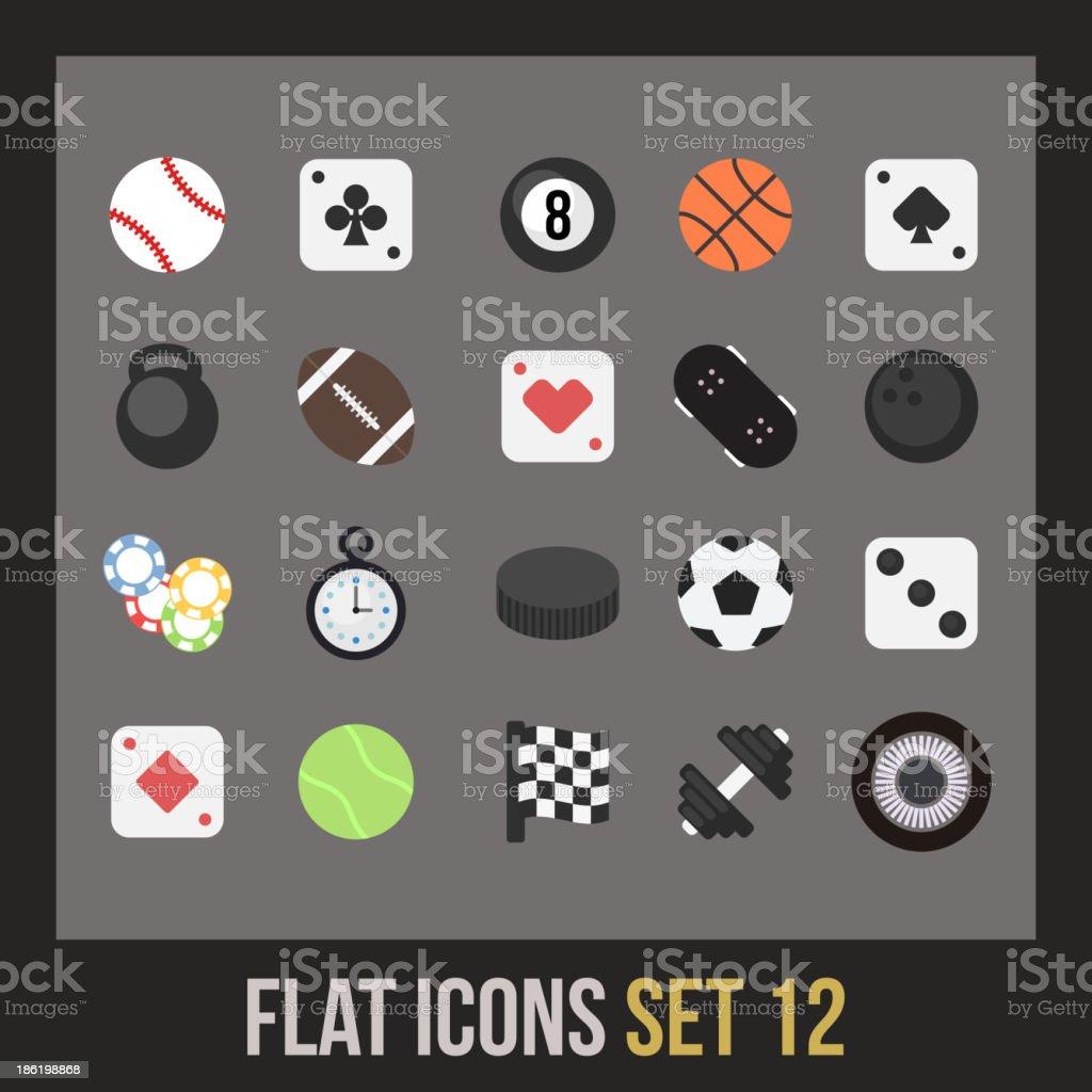 Flat icons set 12 royalty-free stock vector art