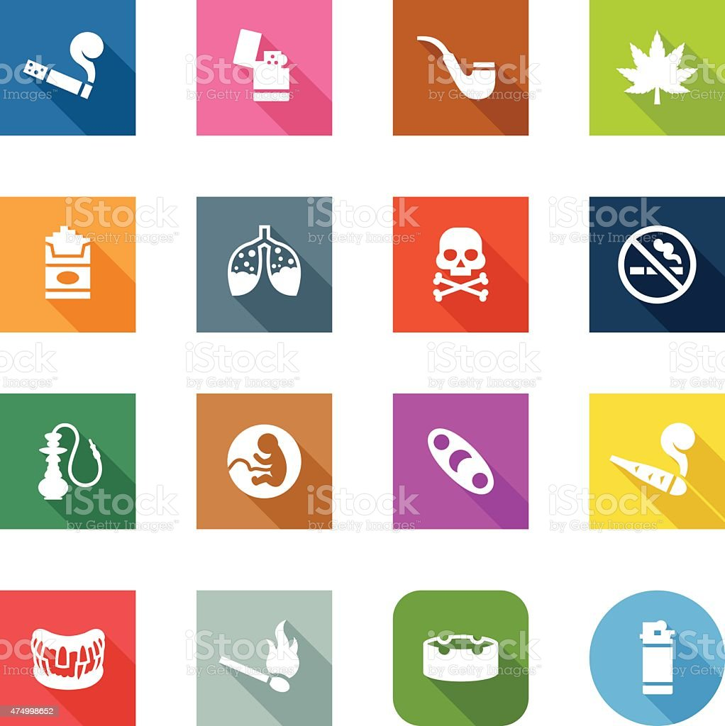 Flat Icons - Smoking vector art illustration