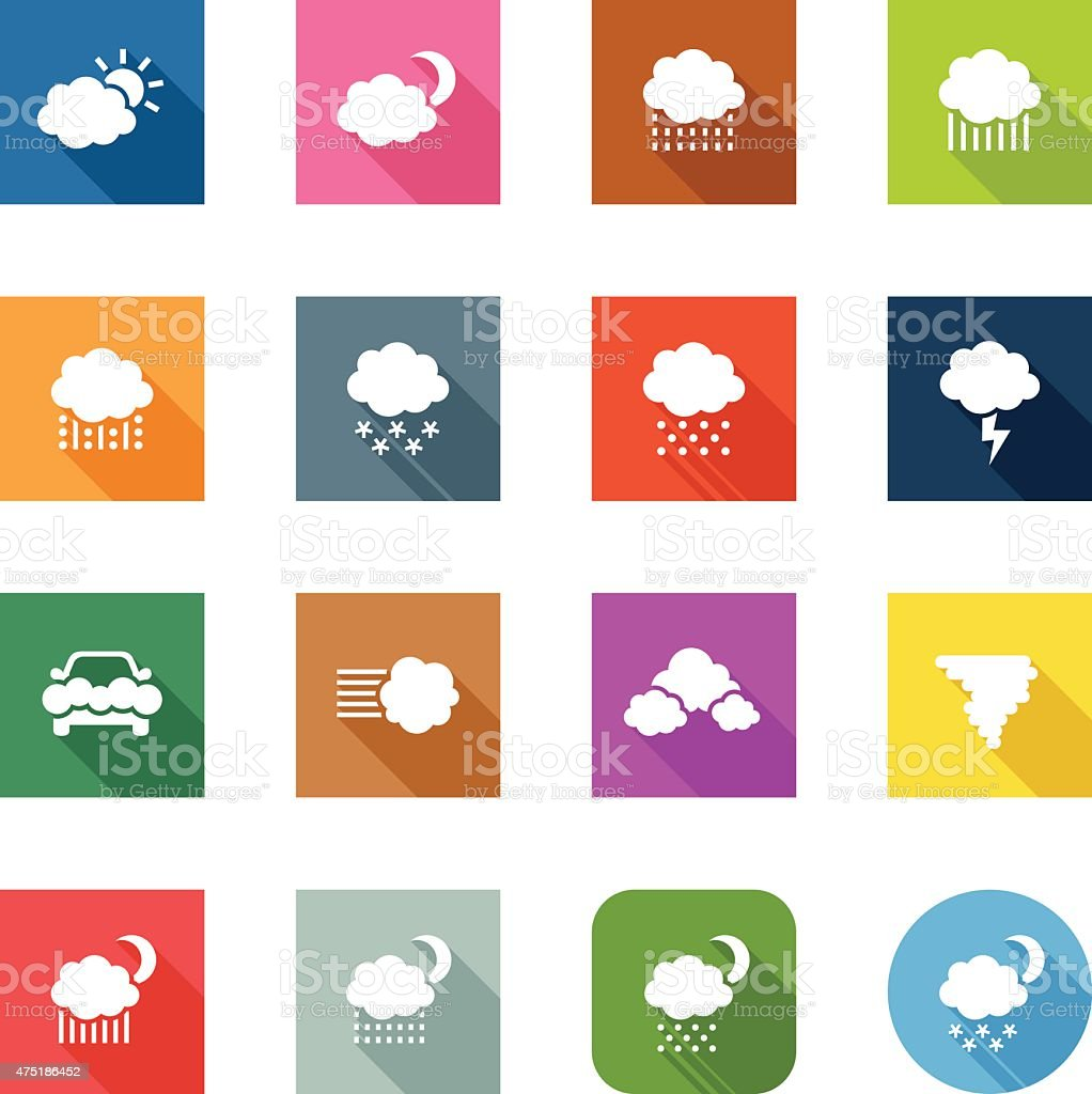Flat Icons - Weather vector art illustration