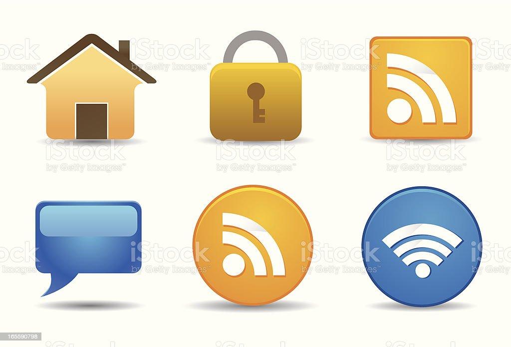 Flat Icons | Website & Blog royalty-free stock vector art