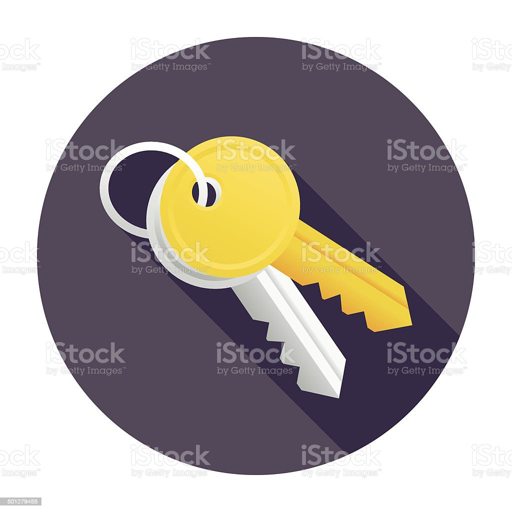 Flat Keys Icon vector art illustration