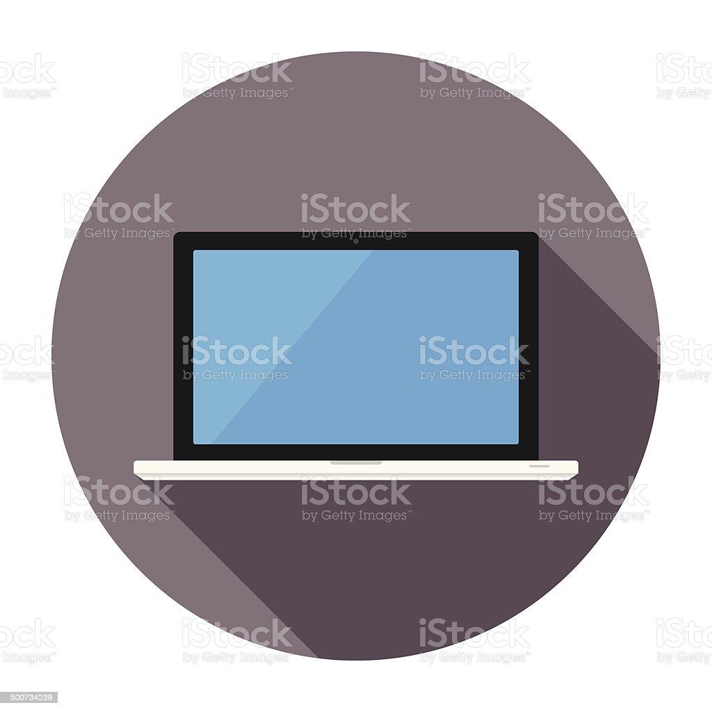 Flat Laptop Icon vector art illustration