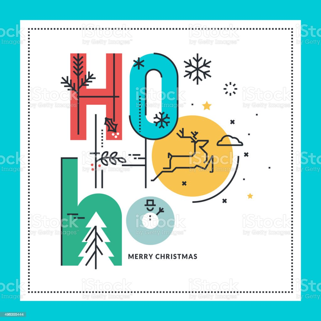 Plano de diseño de tarjeta de felicitación de Navidad illustracion libre de derechos libre de derechos