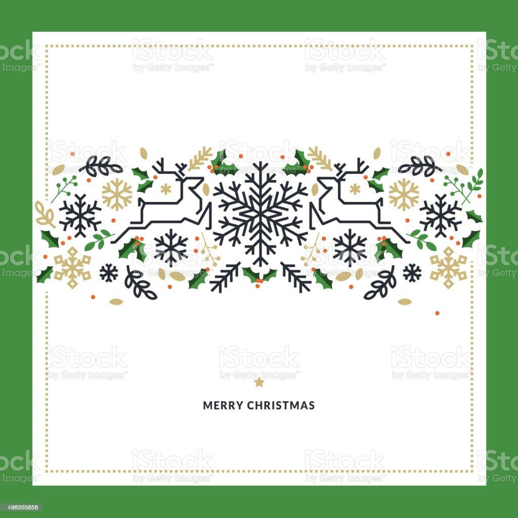 De diseño plano ilustración vectorial de Navidad tarjeta de felicitación illustracion libre de derechos libre de derechos