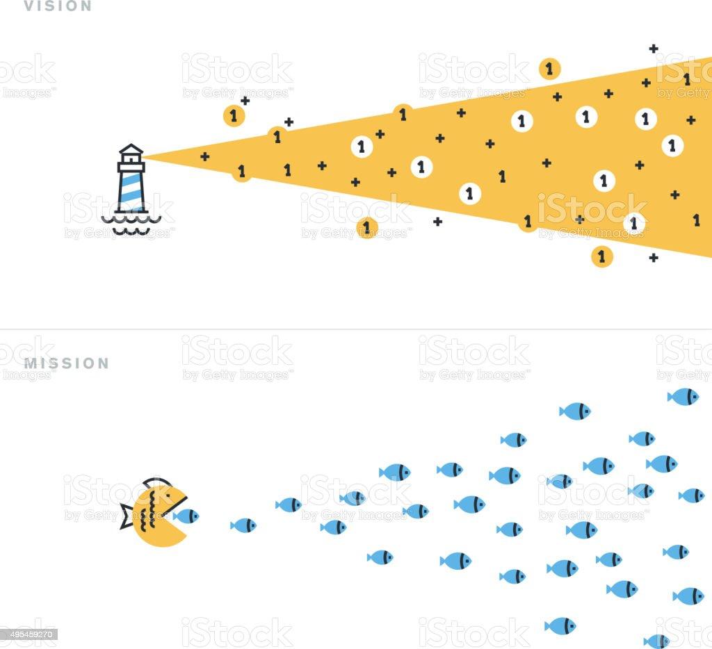Ilustración vectorial de diseño plano de conceptos de negocios illustracion libre de derechos libre de derechos