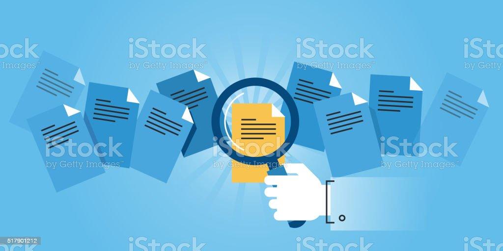 Plano de diseño web de bandera de documento búsqueda illustracion libre de derechos libre de derechos