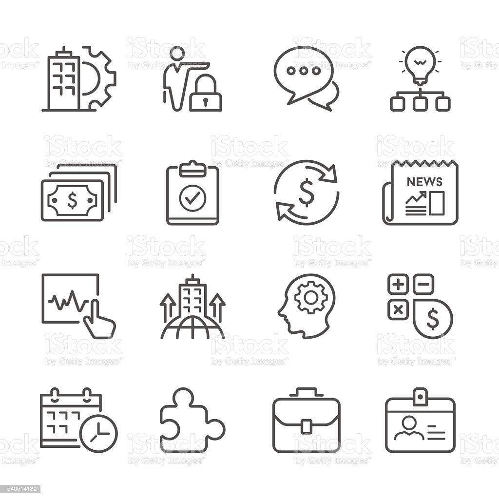 Flat Line icons - Business  Series vector art illustration