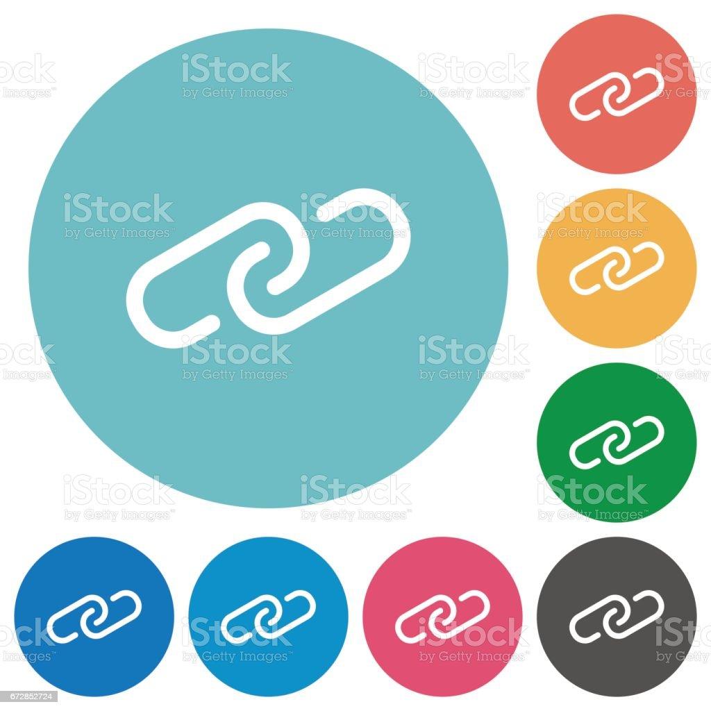 Flat link icons vector art illustration