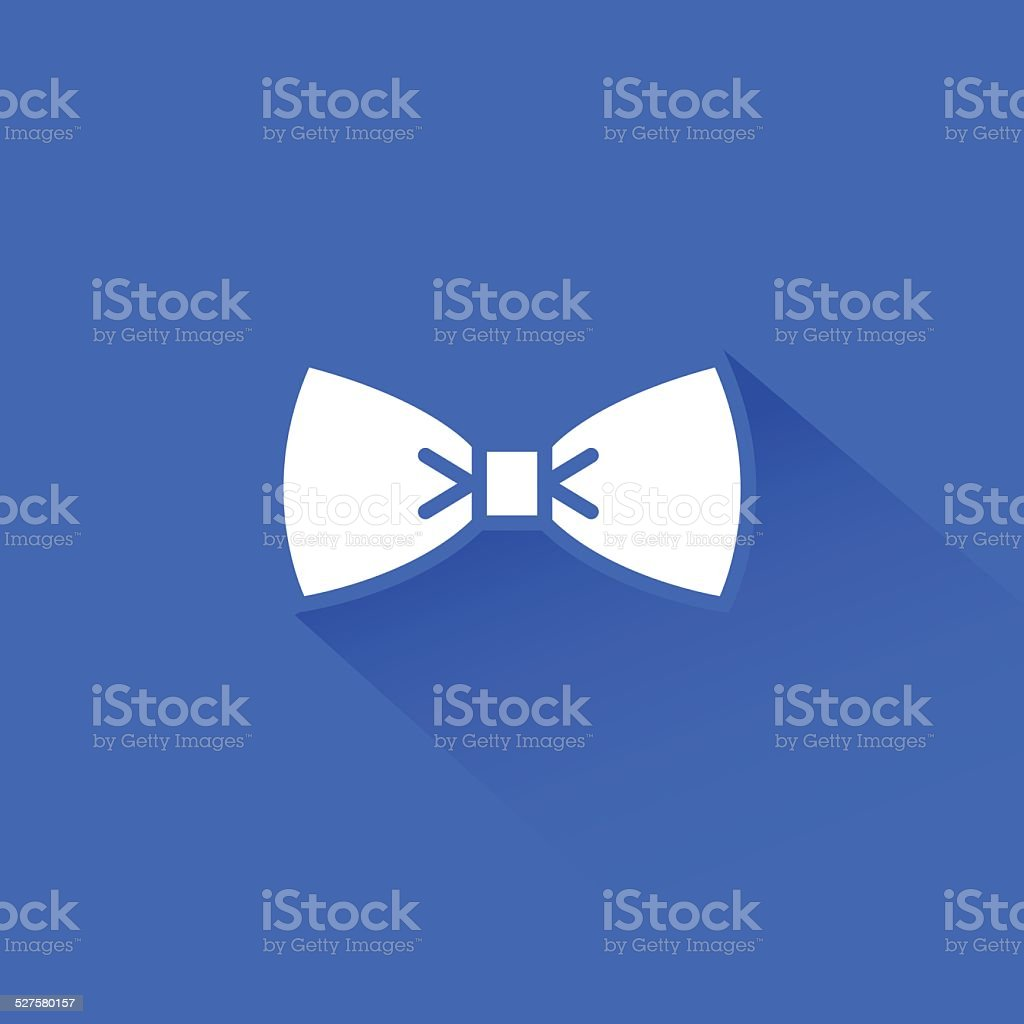 Flat long shadow bow tie icon vector art illustration