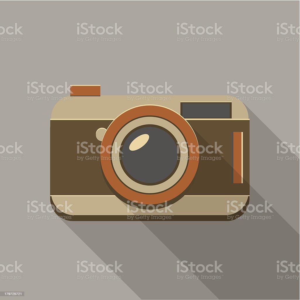 Flat long shadow camera icon royalty-free stock vector art