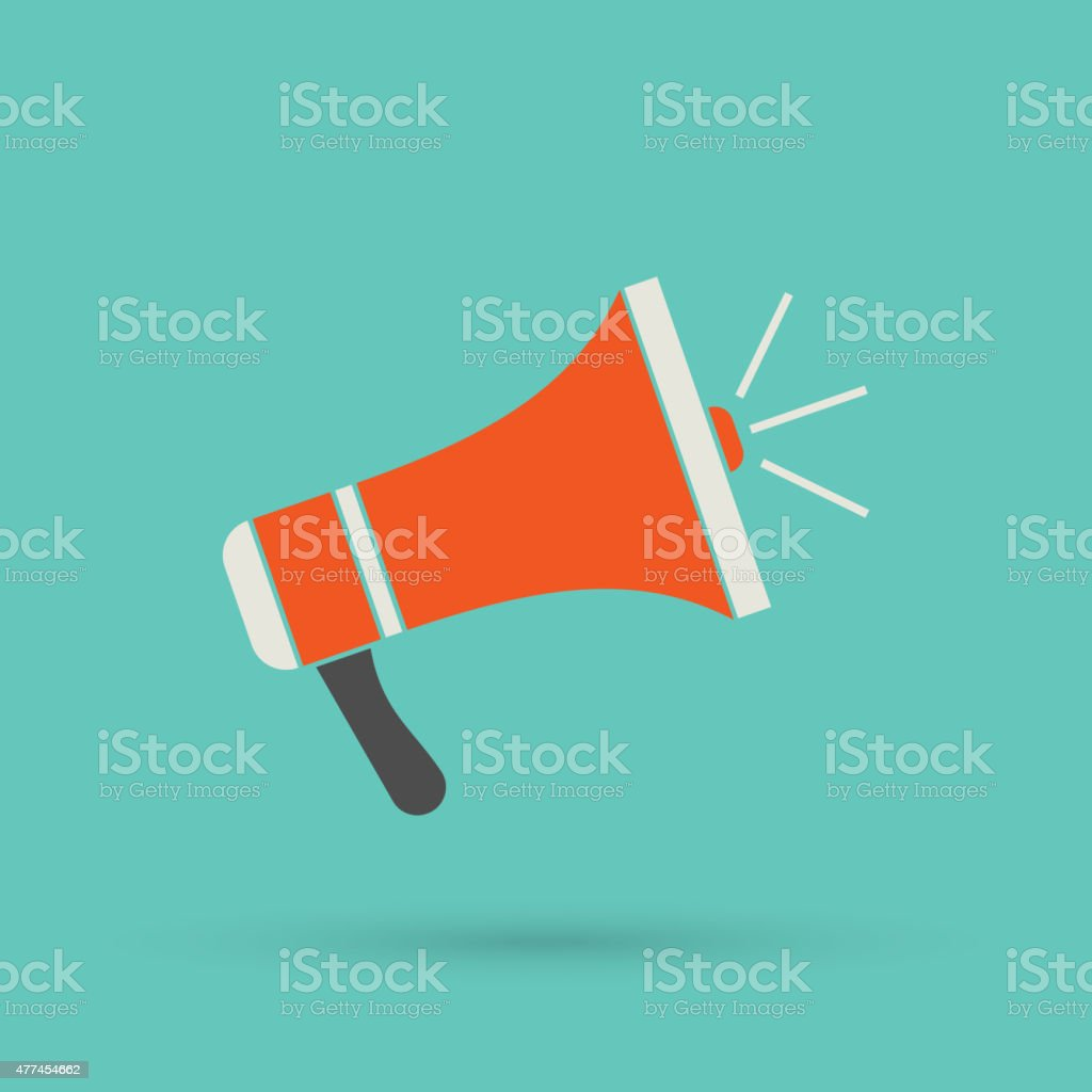 Flat loudspeaker icon vector art illustration