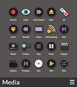 Flat material design icons set