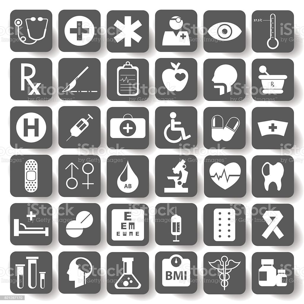 Flat Medical Icons set.vector illustration. vector art illustration
