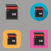 Flat Memory Card icons | Kalaful series