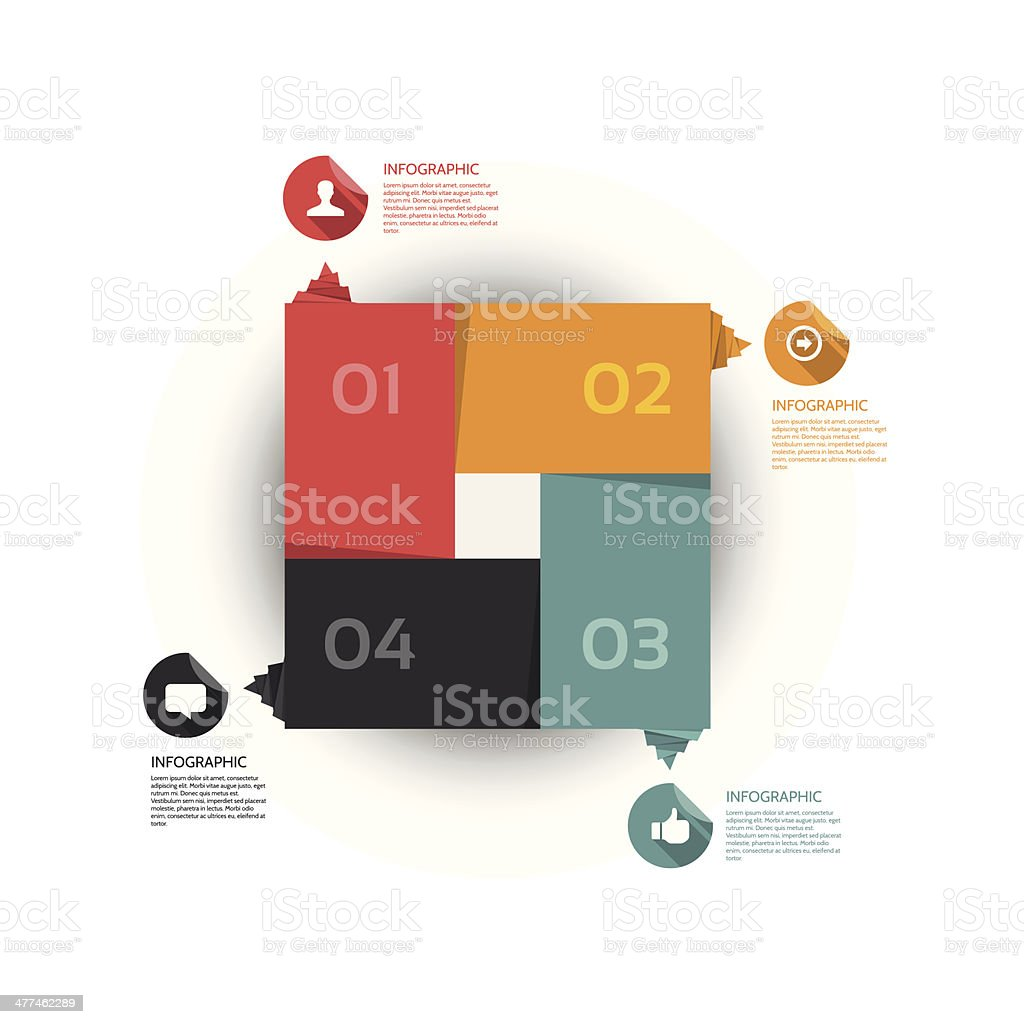 Flat Modern Design Template - Vector Illustration royalty-free stock vector art