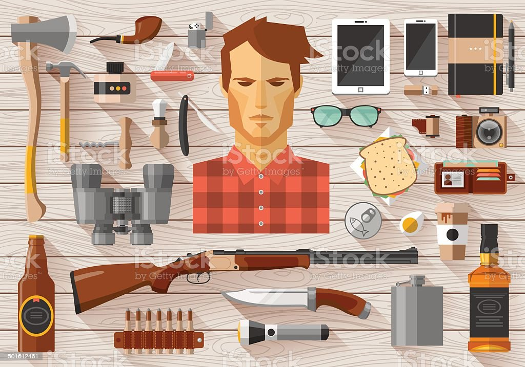 Flat modern design vector icons set vector art illustration