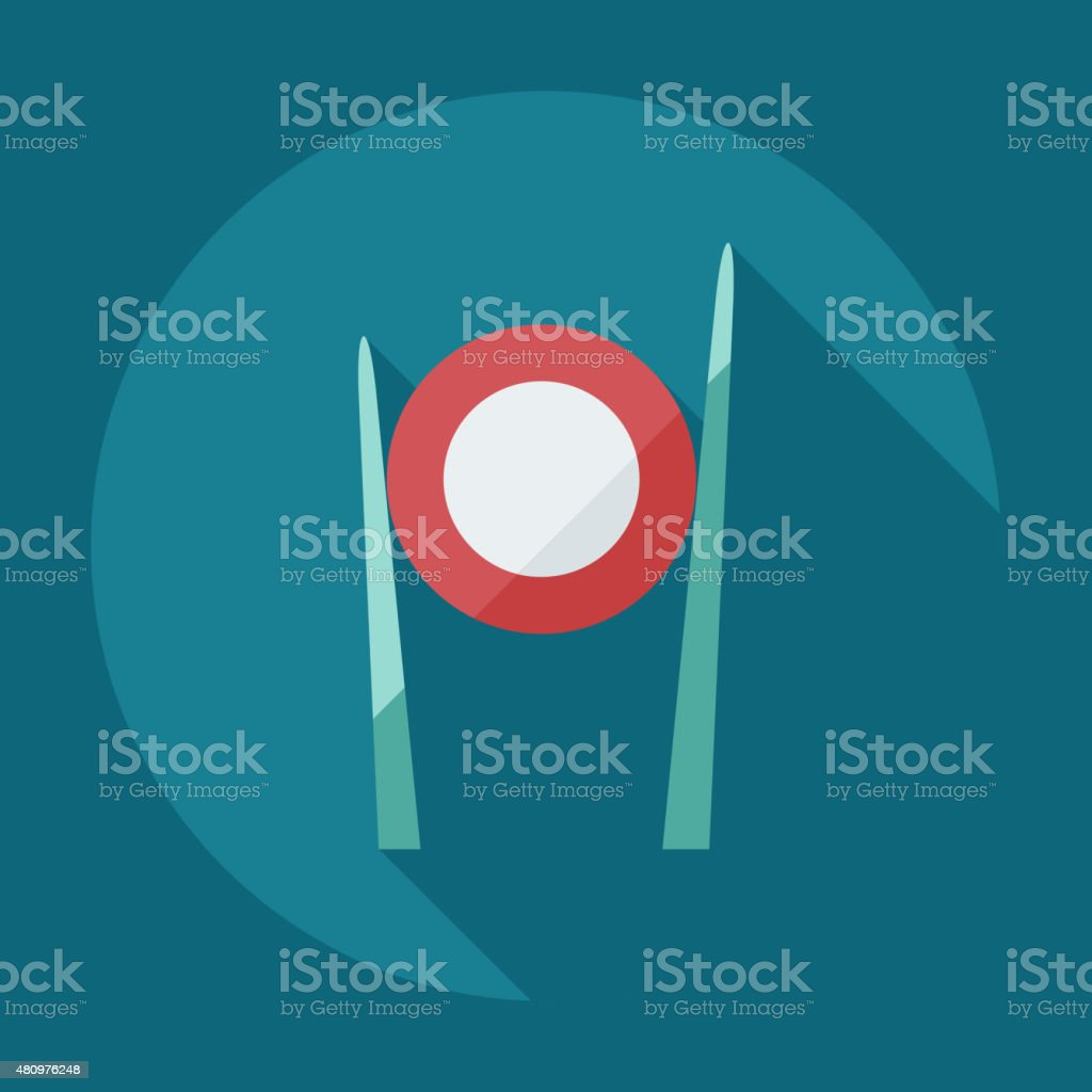 Flat modern design with shadow icons Japanese sushi vector art illustration