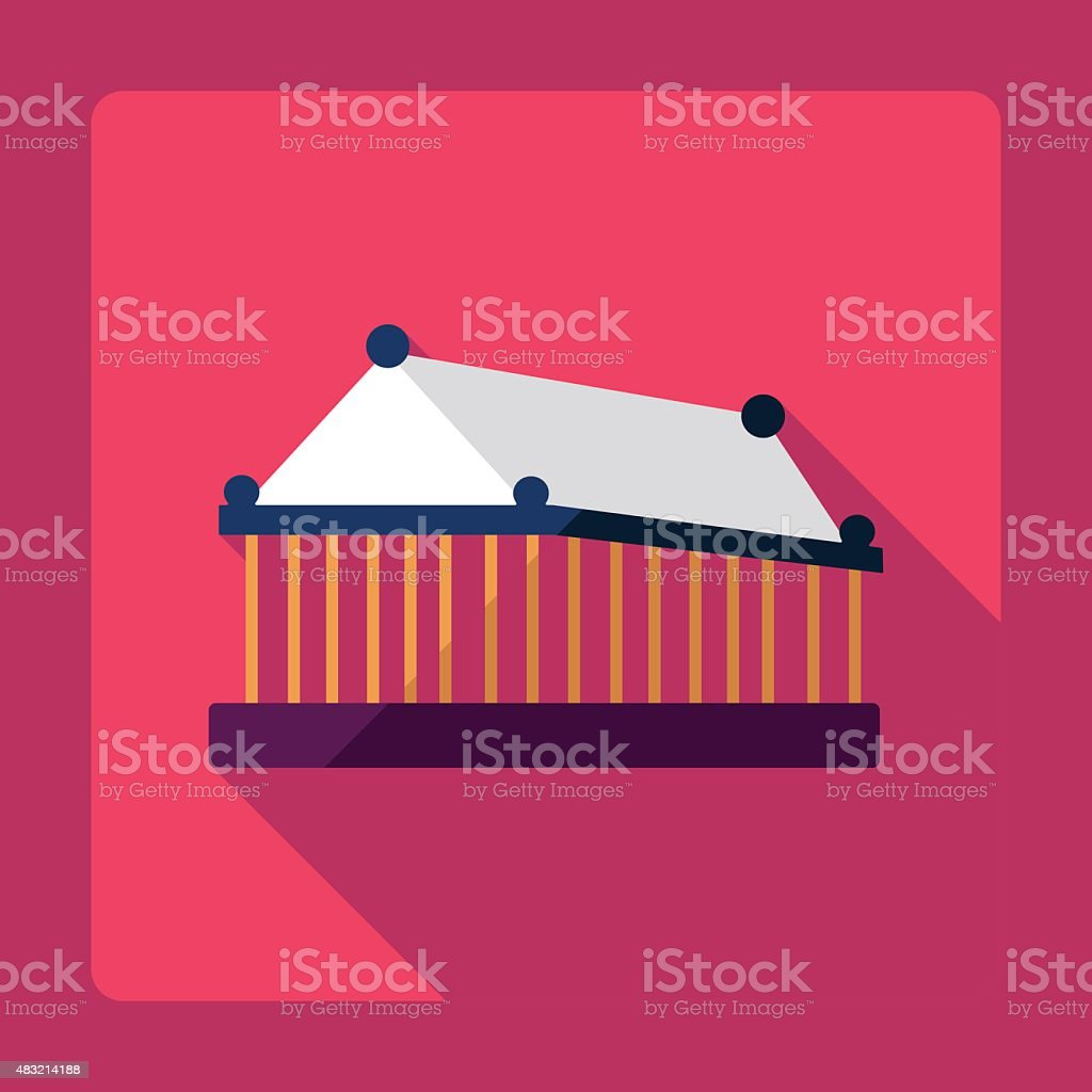 Flat modern design with shadow Temple of Artemis at Ephesus vector art illustration