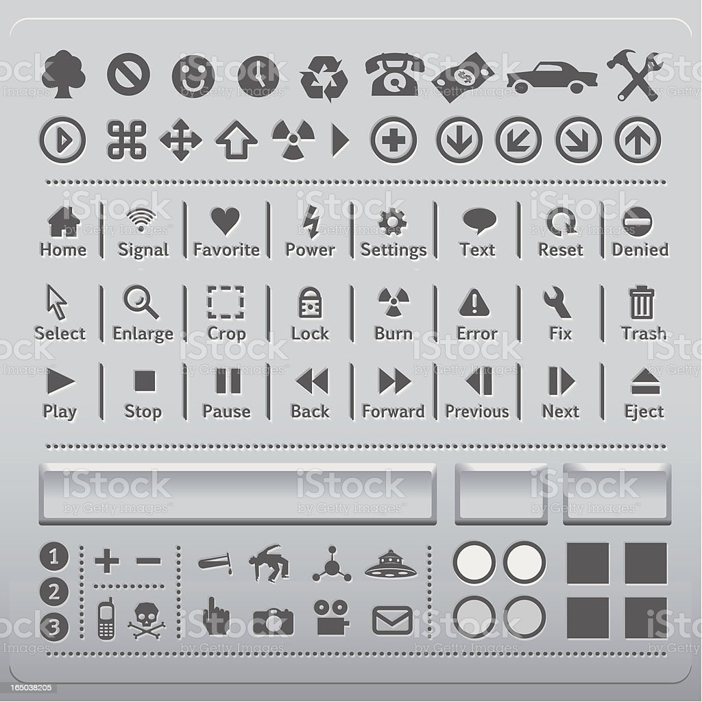 Flat Panel Icons vector art illustration