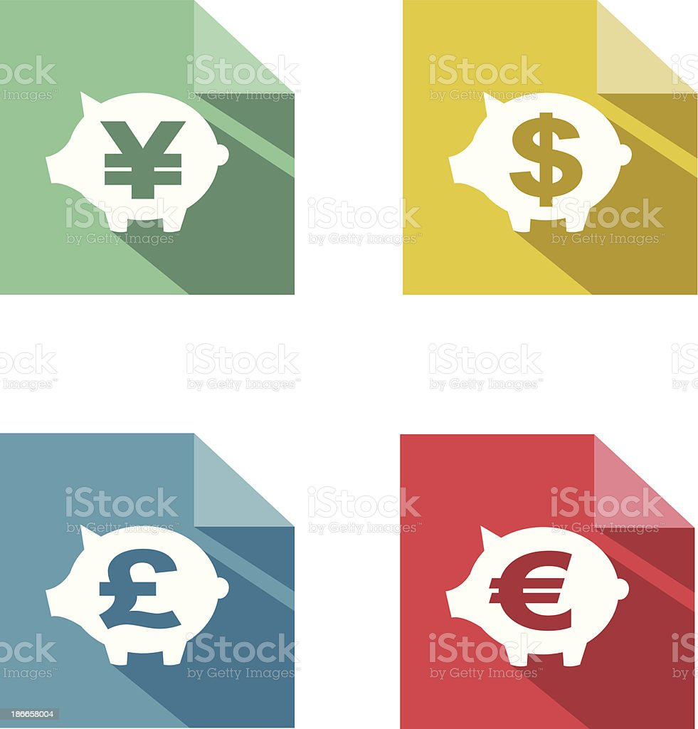 flat paper  currency exchange royalty-free stock vector art