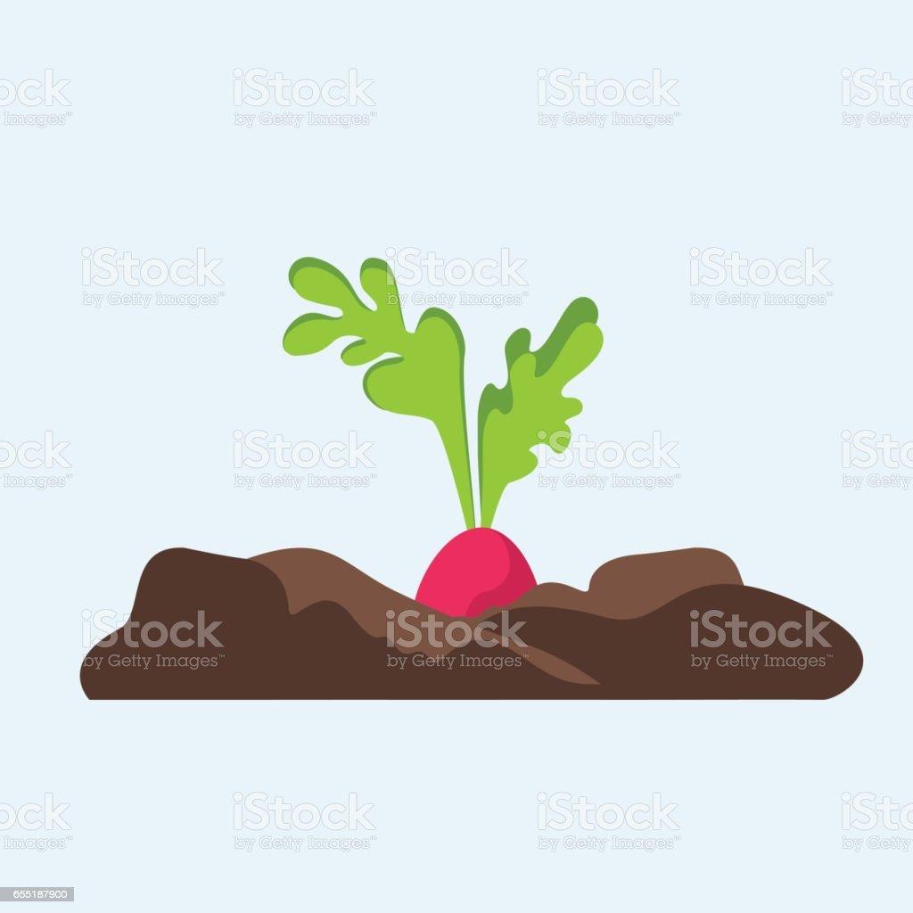 Flat plant illustration. vector art illustration